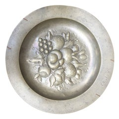 Pewter Charger with Fruit, Possibly American, circa 1771