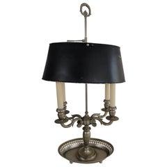 Zinn Französische Bouillotte Lampe