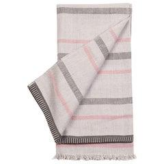 Pewter Handloom Queen Size Gray Bedspread / Coverlet in Organic Cotton