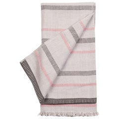 Pewter Handloom Throw / Blanket in Organic Cotton
