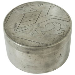 Pewter Jar by Sylvia Stave for C. G. Hallberg, Sweden, 1929