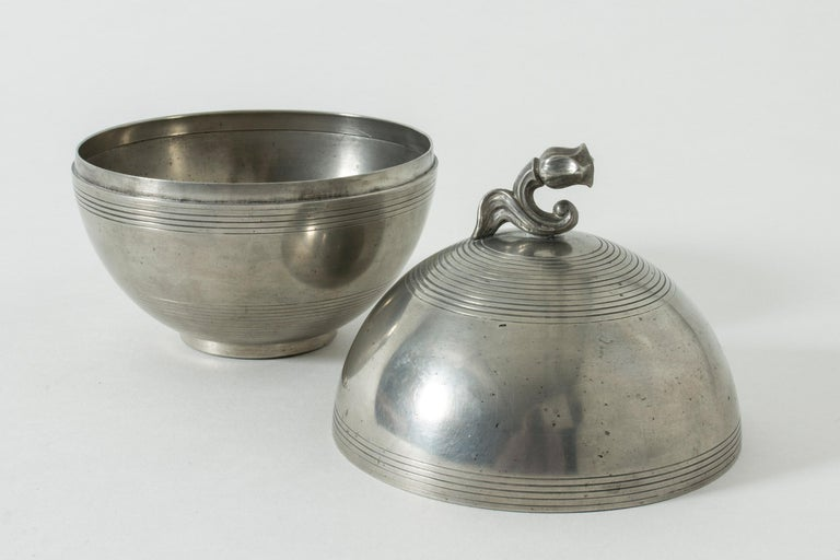 Swedish Pewter Jar by Sylvia Stave For Sale