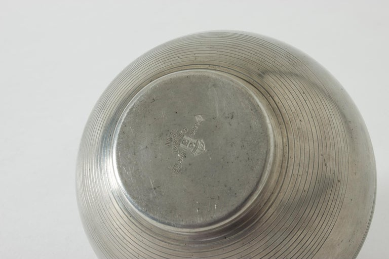 Mid-20th Century Pewter Jar by Sylvia Stave For Sale