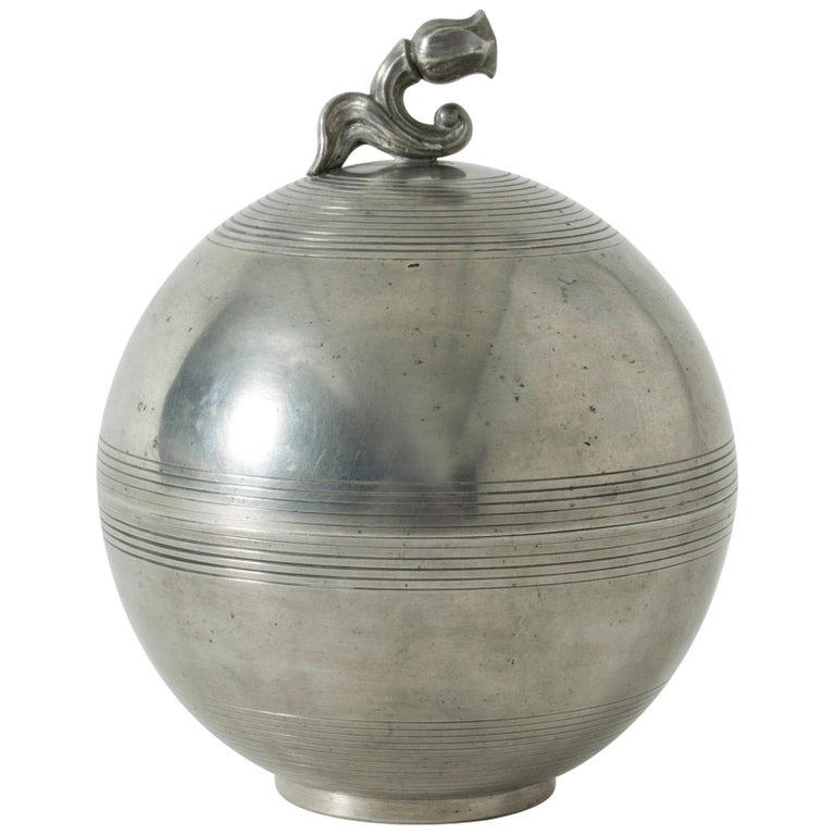 Pewter Jar by Sylvia Stave For Sale