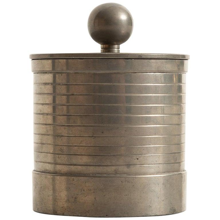 GAB pewter jar, 1936, offered by Studio Schalling