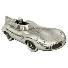 Pewter Model of Mike Hawthorn / Ivor Bueb 1955 Le Mans-Winning Jaguar D-Type