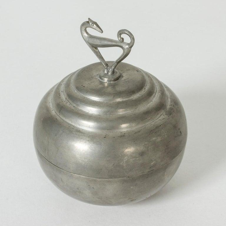 Scandinavian Modern Pewter Swedish Modern Jar by Sylvia Stave for C. G. Hallberg, 1933 For Sale