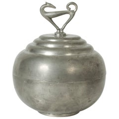 Pewter Swedish Modern Jar by Sylvia Stave for C. G. Hallberg, 1933