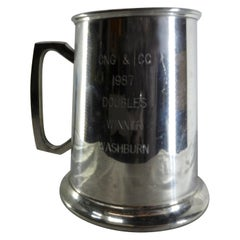 Pewter Tankard from Bolivia Engraved