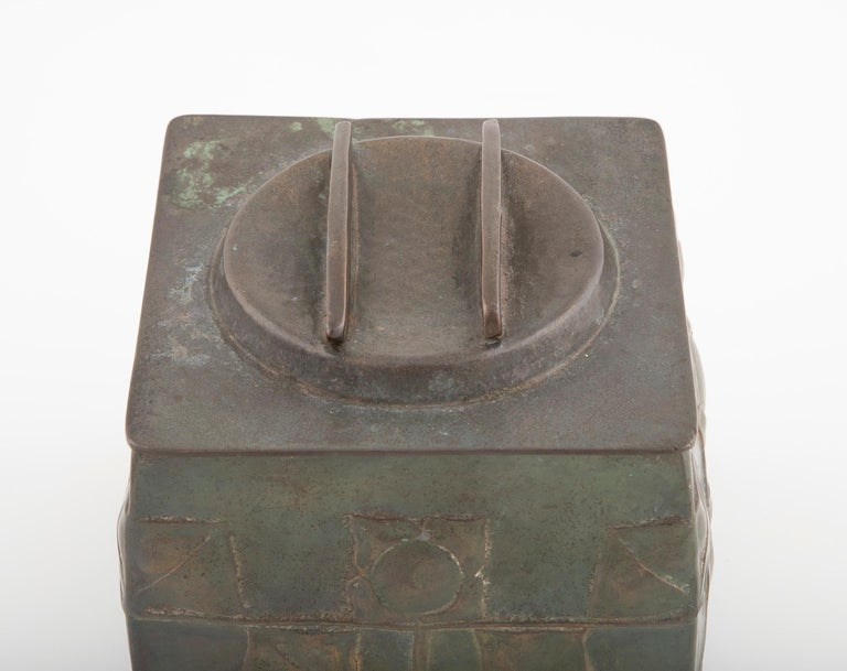 Aesthetic Movement Pewter Tudric Ware Tea Caddy Designed by Archibald Knox
