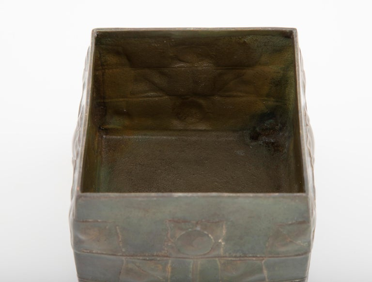 19th Century Pewter Tudric Ware Tea Caddy Designed by Archibald Knox