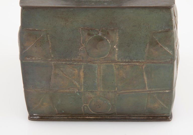 Metal Pewter Tudric Ware Tea Caddy Designed by Archibald Knox
