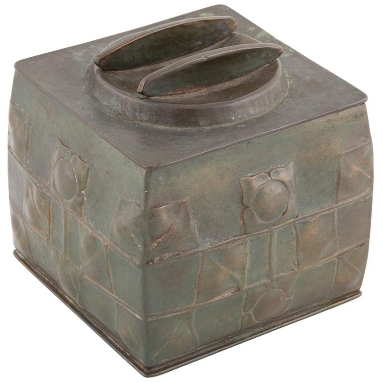 Pewter Tudric Ware Tea Caddy Designed by Archibald Knox