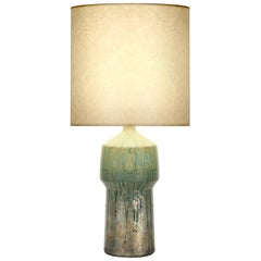 Peyton Table Lamp in Multicolor Green Ceramic by CuratedKravet