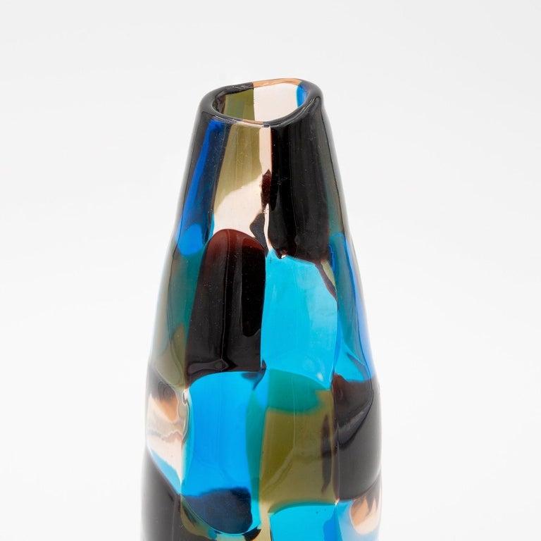 Mid-Century Modern Pezzato Vase 'Model 4393', Fulvio Bianconi, Venini Murano 'Italy'