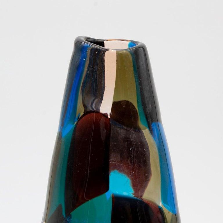 Italian Pezzato Vase 'Model 4393', Fulvio Bianconi, Venini Murano 'Italy'
