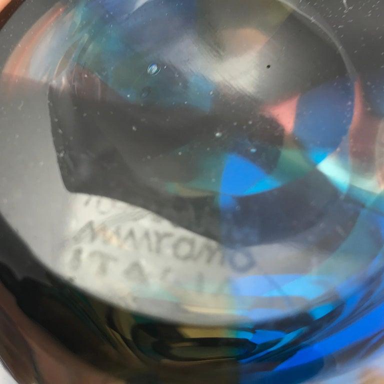 Blown Glass Pezzato Vase 'Model 4393', Fulvio Bianconi, Venini Murano 'Italy'