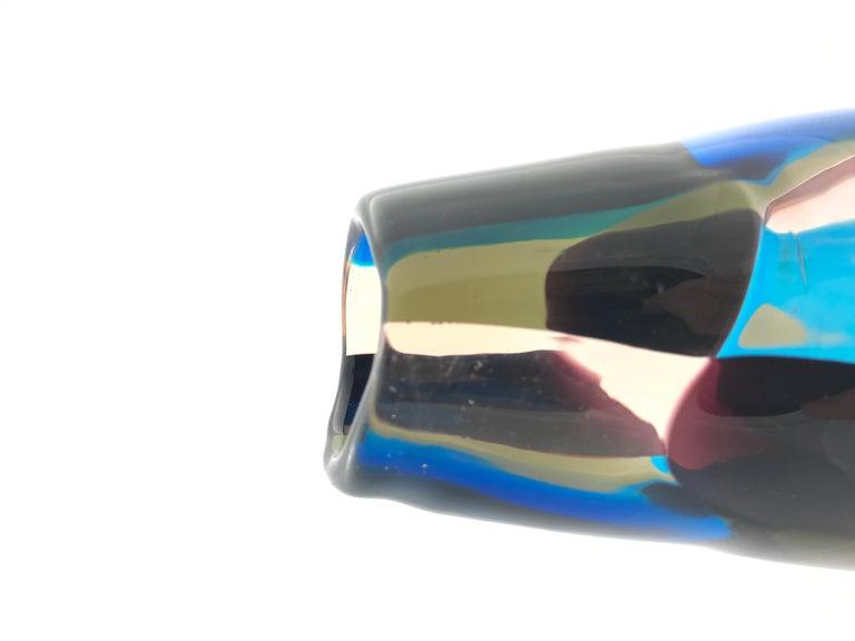 Pezzato Vase 'Model 4393', Fulvio Bianconi, Venini Murano 'Italy' 1