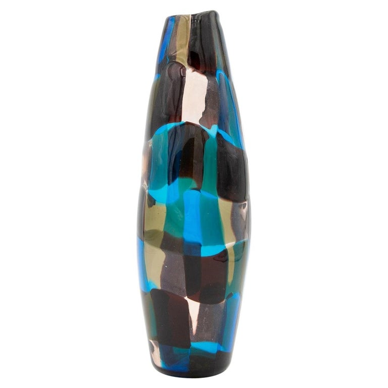 Pezzato Vase 'Model 4393', Fulvio Bianconi, Venini Murano 'Italy'