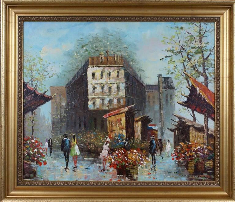 Views of Paris  { Vendôme Column and Flower Stalls} For Sale 5