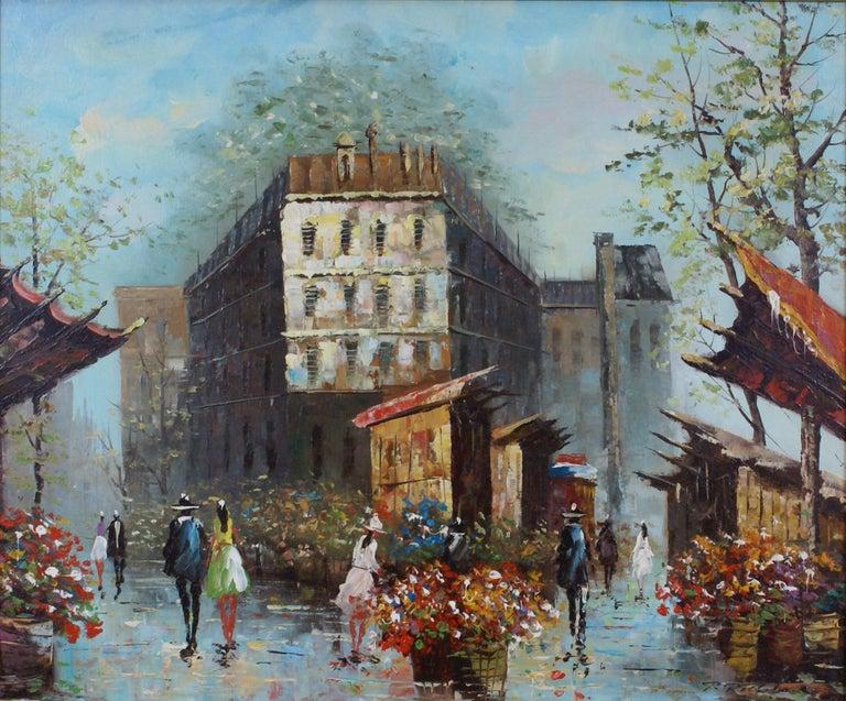 Views of Paris  { Vendôme Column and Flower Stalls} For Sale 6
