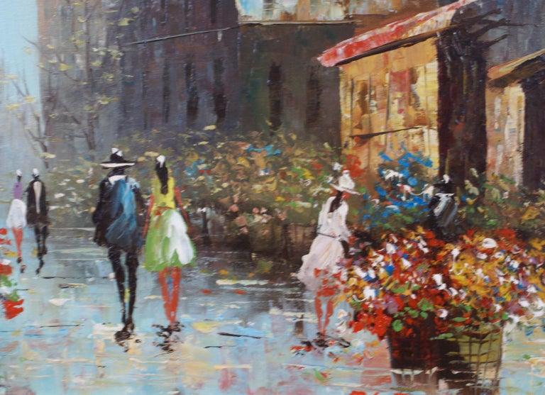 Views of Paris  { Vendôme Column and Flower Stalls} For Sale 7