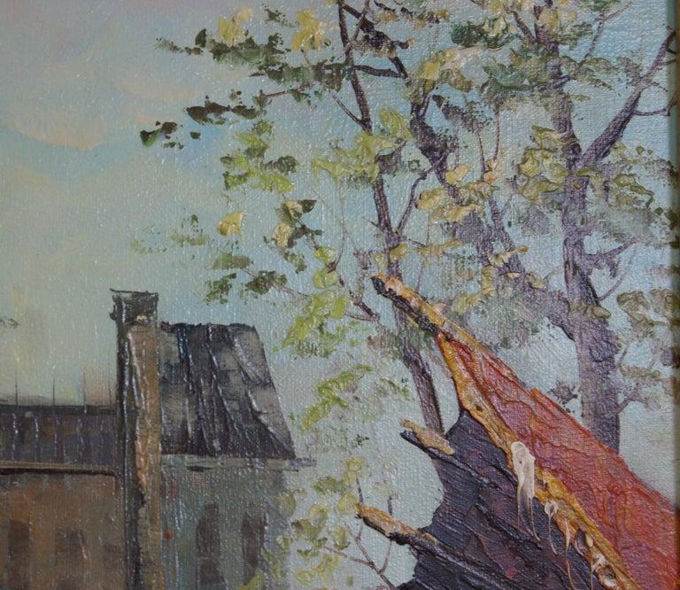 Views of Paris  { Vendôme Column and Flower Stalls} For Sale 9