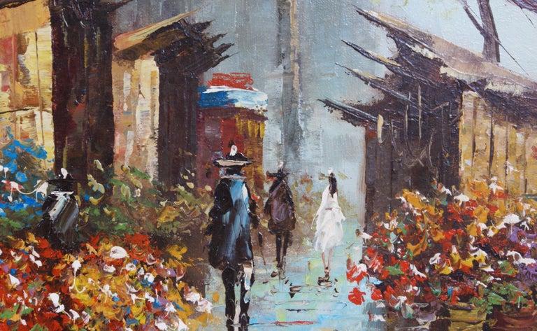 Views of Paris  { Vendôme Column and Flower Stalls} For Sale 10