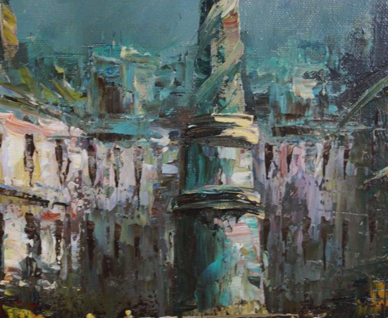 Views of Paris  { Vendôme Column and Flower Stalls} For Sale 1