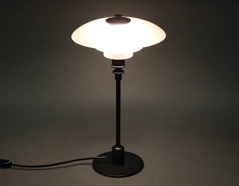 Scandinavian Modern PH 2/1 Table Lamp, Anniversary Model, by Poul Henningsen and Louis Poulsen For Sale