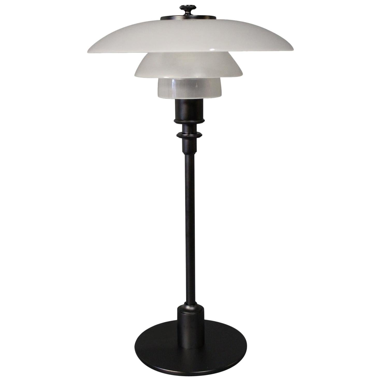 PH 2/1 Table Lamp, Anniversary Model, by Poul Henningsen and Louis Poulsen