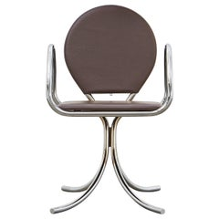 PH Armchair, Chrome, Leather Extreme Mocca