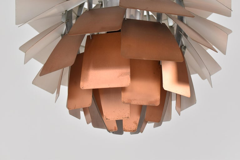 Enamel PH Artichoke Pendant by Poul Henningsen for Louis Poulsen, Denmark, 1950s For Sale