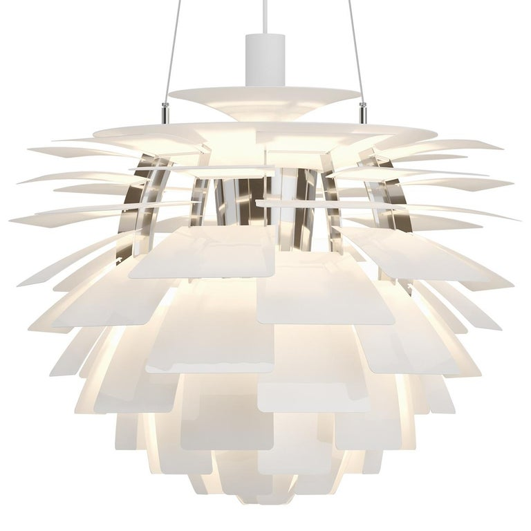 One of the most iconic, modern lighting designs, the PH Artichoke Pendant Light's origin is ju st as noteworthy. Originally designed in 1958 for the Langelinie Pavillonen restaurant located in Denmark's capital Copehagen, the modern pendant light