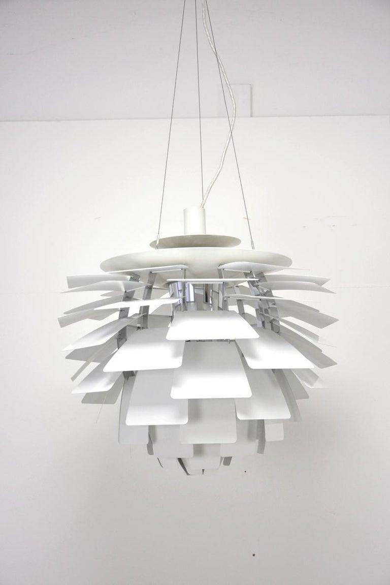 Mid-Century Modern PH Artichoke Pendant Light by Poul Henningsen, Louis Poulsen, White, 1958 For Sale