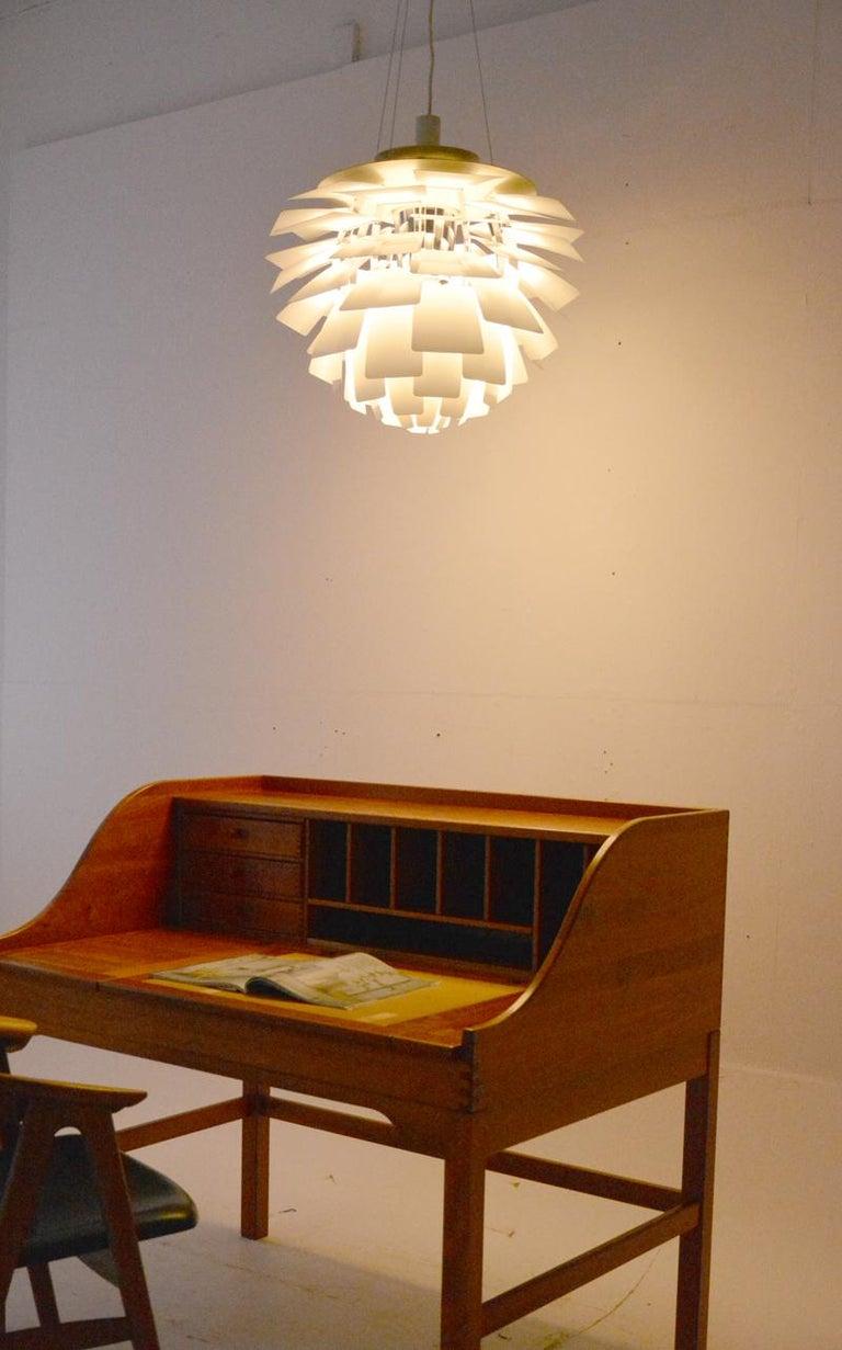 Danish PH Artichoke Pendant Light by Poul Henningsen, Louis Poulsen, White, 1958 For Sale