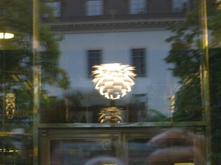 Lacquered PH Artichoke Pendant Light by Poul Henningsen, Louis Poulsen, White, 1958 For Sale
