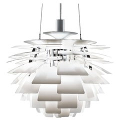 PH Artichoke Pendant Light by Poul Henningsen, Louis Poulsen, White, 1958