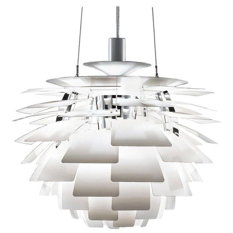 PH Artichoke Pendant Light by Poul Henningsen, Louis Poulsen, White, 1958 For Sale