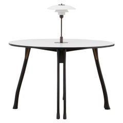 PH Axe Table, Black Oak Legs, Laminated Plate, White PH