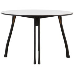 PH Axe Table, Black Oak Legs, Laminated Plate, Without Lamp