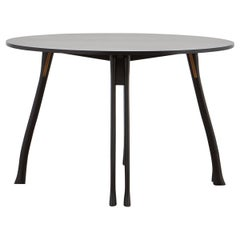 PH Axe Table, Black Oak Wood Legs, Black Oak Veneer Table Plate and Edge