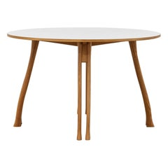 PH Axe Table, natural oak legs, laminated plate, without lamp
