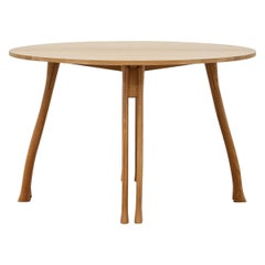 PH Axe Table, Natural Oak Legs, Veneer Table Plate with Veneered Edge