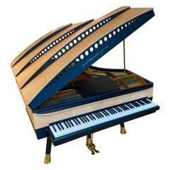 PH Bow Grand Piano, Maple Birch with Brass Details