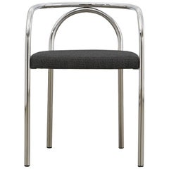 PH Chair, chrome, hallingdal black 190