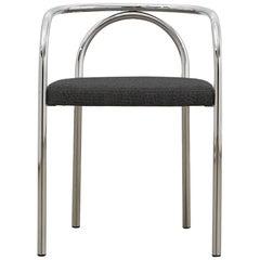 PH Chair, chrome, hallingdal black 190