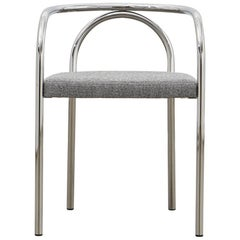 PH Chair, chrome, hallingdal light grey 126