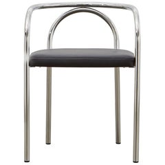 PH Chair, Chrome, Leather Extreme Black