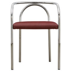 PH Chair, chrome, leather extreme indianred